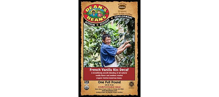 Dean's Beans Organic Coffee French Vanilla Kiss Natural