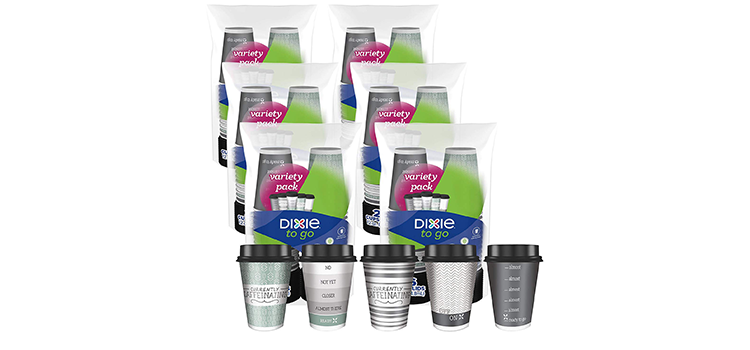 Dixie to Go Disposable Hot Beverage Paper Coffee Cups
