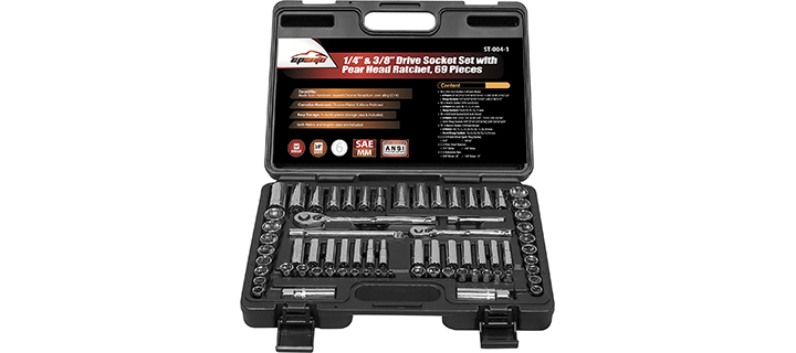 EPAuto Drive Socket Set with Pear Head Ratchet