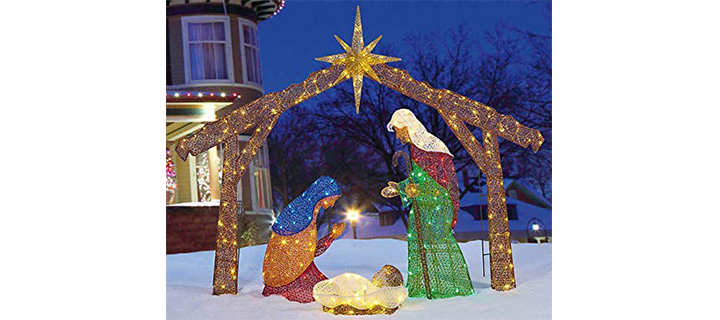 EverStar Large Lighted Indoor Outdoor Nativity Scene