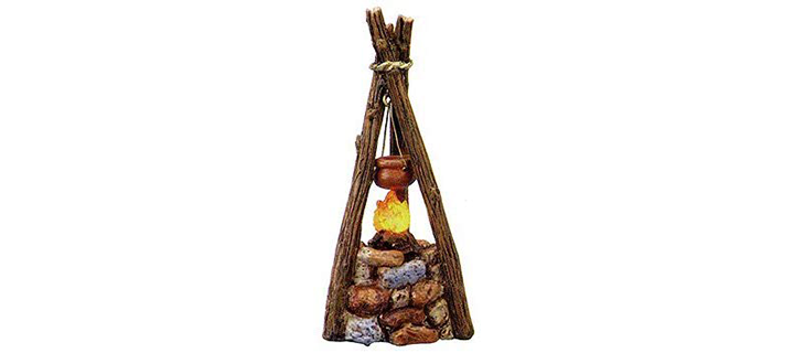 Fontanini LED Light Up Campfire Italian Nativity Village Accessory Figurine