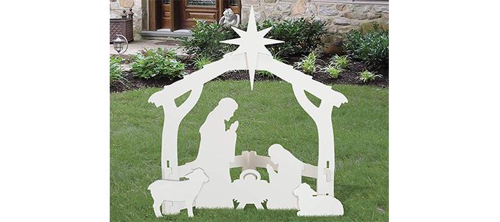 Front Yard Originals Outdoor White Nativity Set