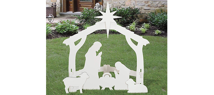 Front Yard Originals Outdoor White Nativity Set