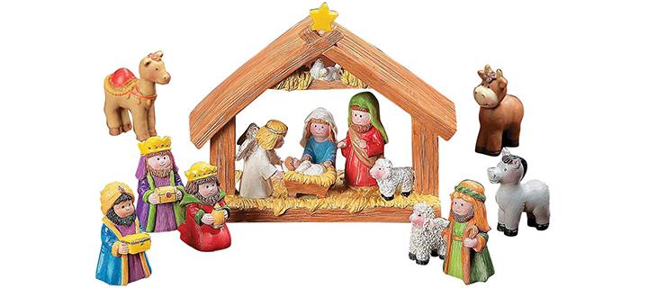 Fun Express Mini Christmas Nativity Set