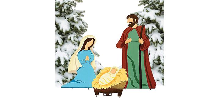 Fun Express Nativity Scene Yard Decor for Christmas