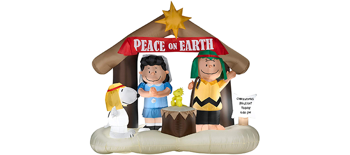 Gemmy Inflatables Peanuts Nativity Scene