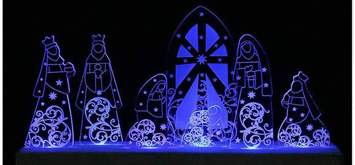 Giftgarden LED Nativity Set