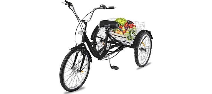 Happybuy Adult Tricycle Single 7 Speed Three Wheel Bike