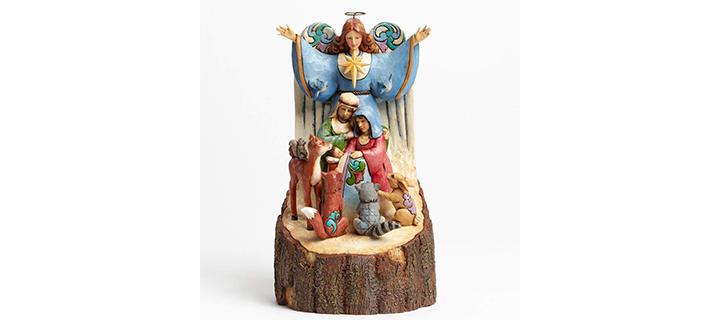 Heartwood Creek Carved Woodland Nativity Figurine