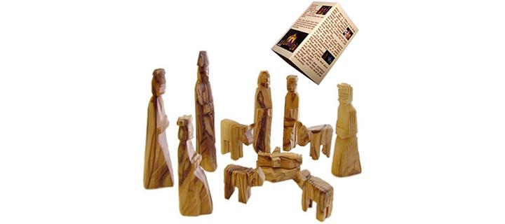 Holy Land Market Olive Wood Children's Nativity Set