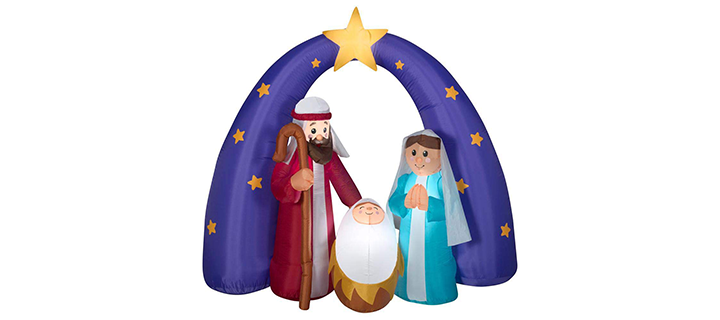 Home Accents Holiday Airblown Nativity Fuzzy Scene