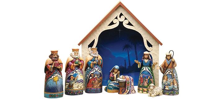 Jim Shore Heartwood Creek 9-Piece Mini Nativity Set