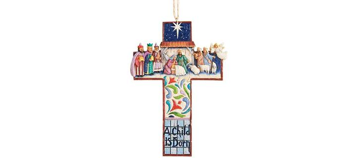 Jim Shore Heartwood Creek Cross Nativity Scene