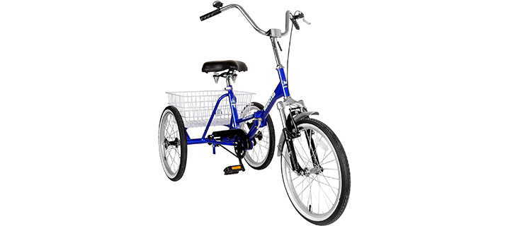 Mantis Tri-Rad Adult Unisex Folding Tricycle