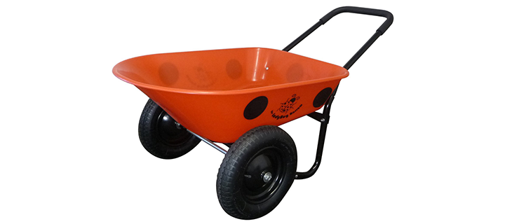 Marathon Dual-Wheel Residential Yard Rover Wheelbarrow and Yard Cart