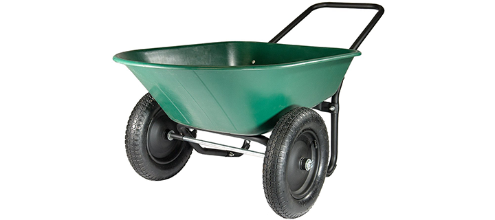 Marathon Yard Rover – 2 Tire Wheelbarrow Garden Cart