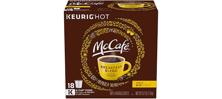 McCafe Breakfast Blend Keurig K Cup Coffee Pods