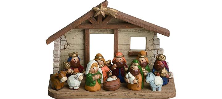Miniature Kids Nativity Scene