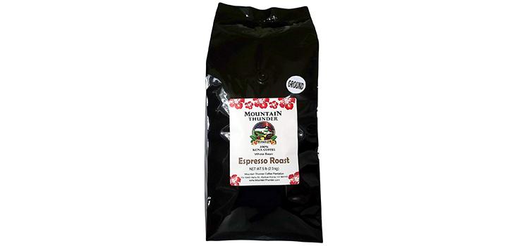 Mountain Thunder 100% Kona Coffee Espresso Roast