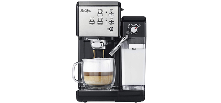 Mr Coffee One-Touch CoffeeHouse Espresso Maker and Cappuccino Machine
