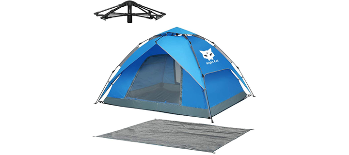 Night Cat 4 Person Camping Tent