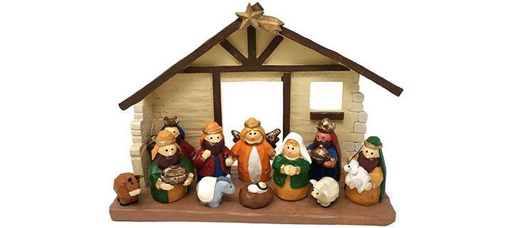 One Holiday Way Medium Size Kids Christmas Nativity Scene