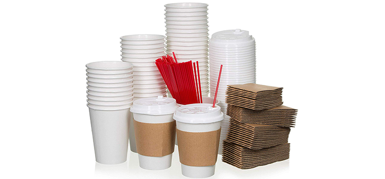 Safeware White Paper Coffee Cups