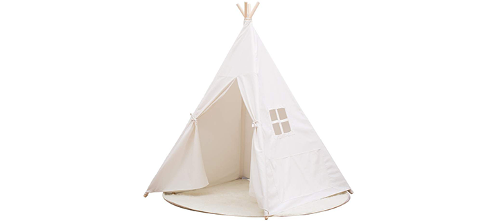 Small Boy Portable Cotton Canvas Teepee for Kids
