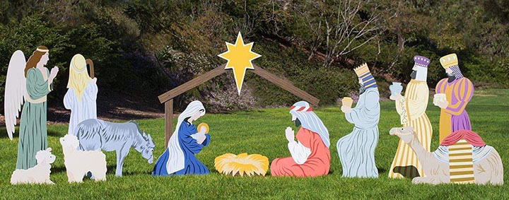 Store Complete Outdoor Nativity Set