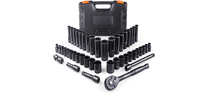 TACKLIFE 46 Pcs Drive Socket Set