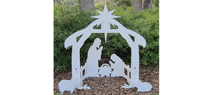 Teak Isle Christmas Outdoor Nativity Set