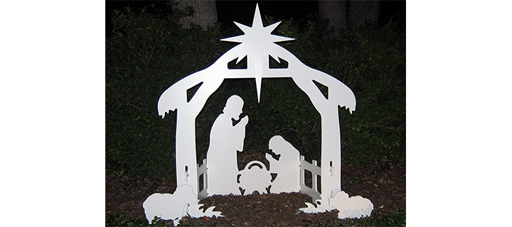 Teak Isle Christmas Outdoor Nativity Set