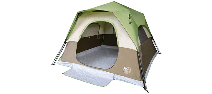 Timber Ridge Instant Cabin Tent for 6 People