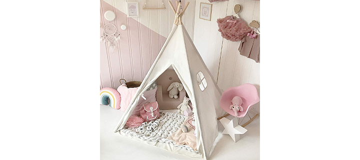 Tiny Land Kids Teepee Tent with Padded Mat