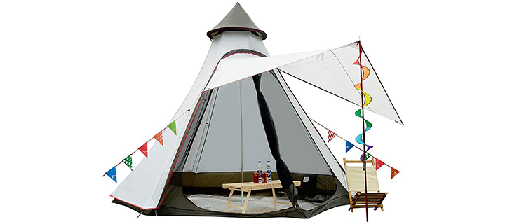 Vidalido 6 Person 4 Season Teepee Tent