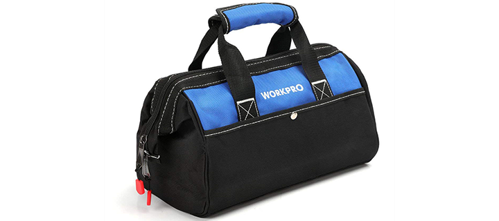WORKPRO 13-inch Tool Bag, Wide Mouth Tool Tote Bag