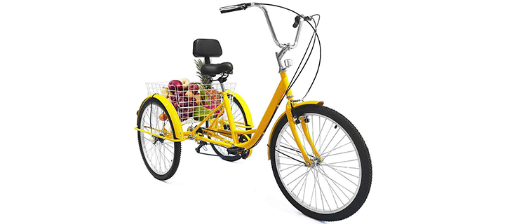 Weanas 7 Speed 24 Inch Adult Tricycle