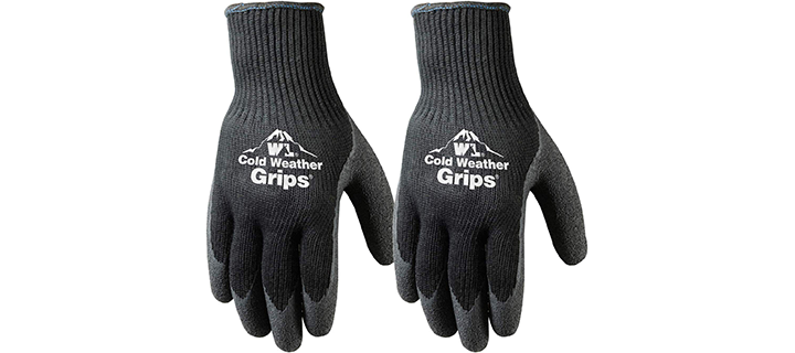Wells Lamont Cold Weather Latex Grip Winter Work Gloves