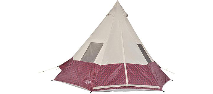Wenzel Outdoors Buffalo Plaid Teepee Tent