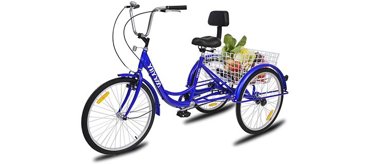 YiiYYaa Adult Tricycle Trike Cruise Bike