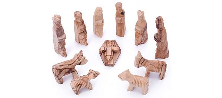 Zuluf Olive Wood Children's Nativity Set